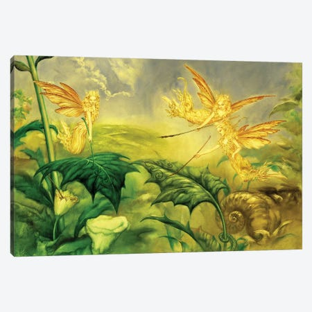 Fairy Artists Canvas Print #CIL42} by Ciruelo Art Print