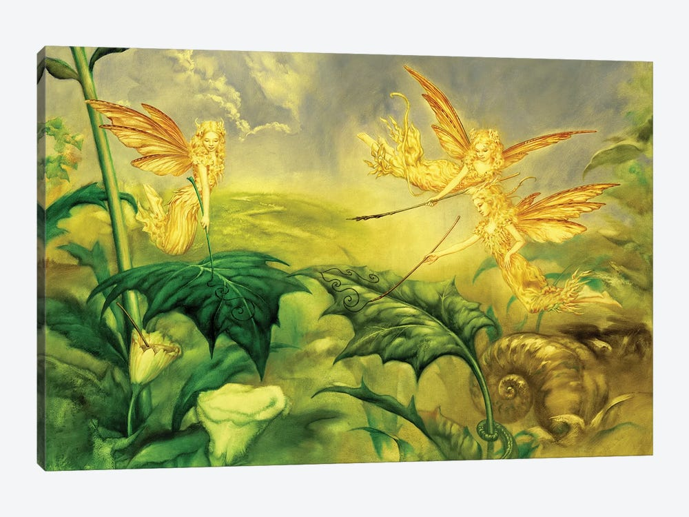Fairy Artists by Ciruelo 1-piece Canvas Wall Art