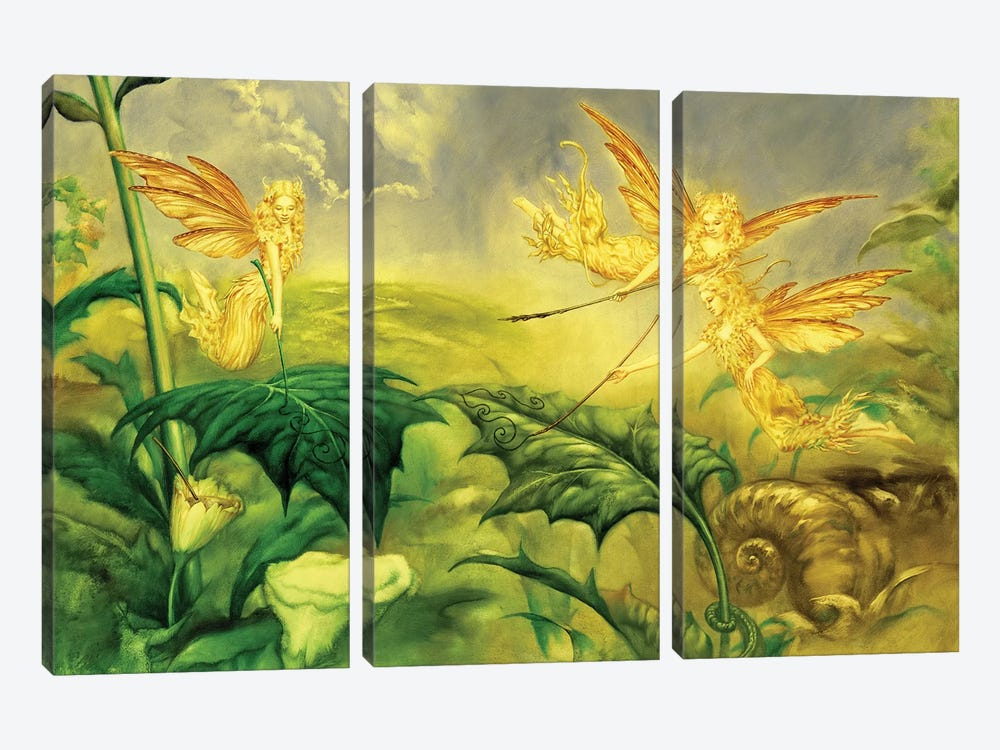 Fairy Artists by Ciruelo 3-piece Canvas Wall Art