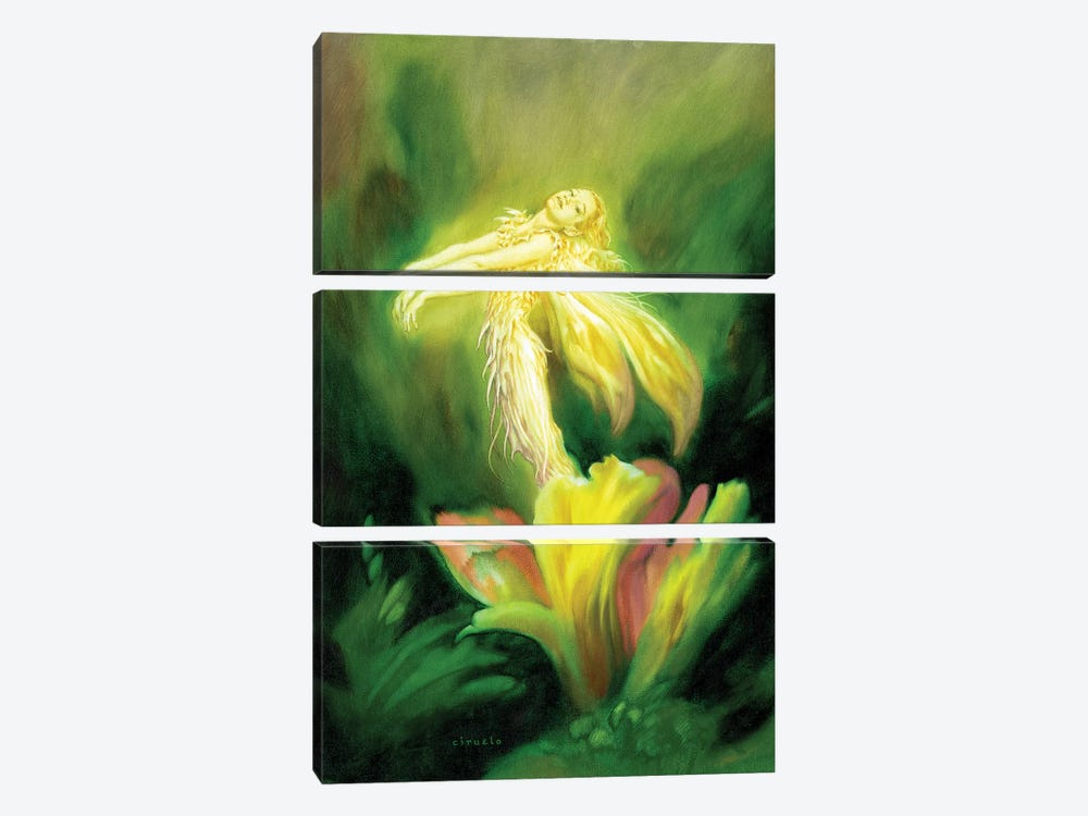 Flower Fairy 3-piece Canvas Art Print