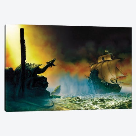 Galeon Canvas Print #CIL52} by Ciruelo Canvas Artwork