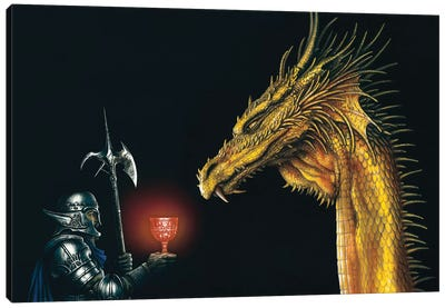 Gold Dragon Canvas Art Print
