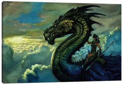Amazon Dragon Canvas Art Print