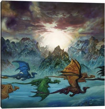 Mountain Dragon Canvas Art Print
