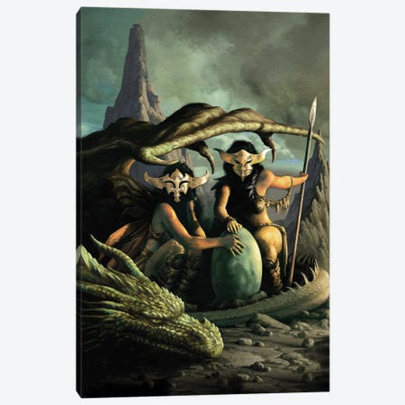 Sorceresses Canvas Print #CIL86} by Ciruelo Canvas Wall Art