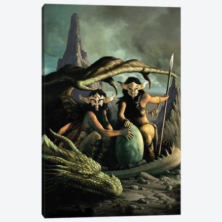 Sorceresses Canvas Print #CIL86} by Ciruelo Canvas Wall Art