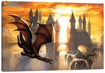Sunset Dragon Canvas Art Print