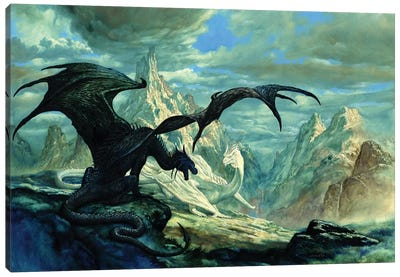 Talking Dragon Canvas Art Print