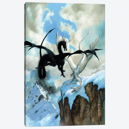 Battle Dragon Canvas Print #CIL8} by Ciruelo Canvas Art