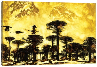 Yellow Flight Canvas Art Print