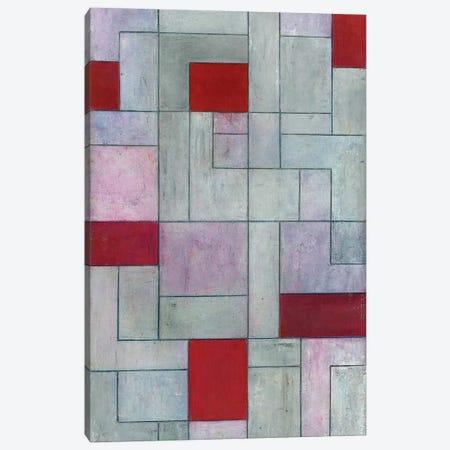 Grey Matters Red Canvas Print #CIM10} by Stephen Cimini Art Print