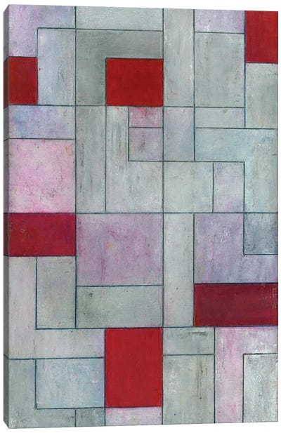 Grey Matters Red Canvas Art Print