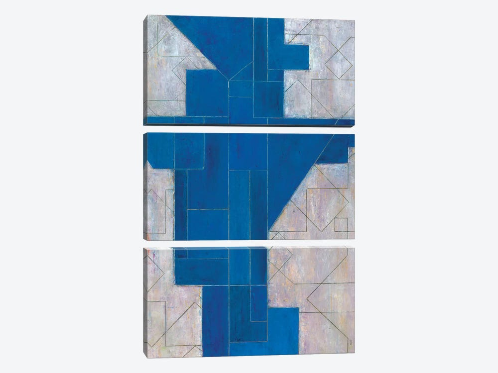 Blue Oracle by Stephen Cimini 3-piece Canvas Print