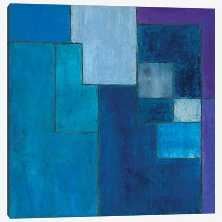Ultra Blue Violet Canvas Print #CIM20} by Stephen Cimini Canvas Artwork