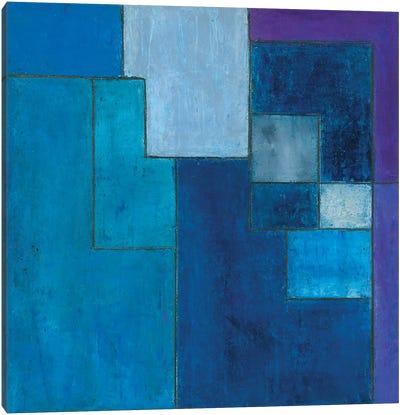 Ultra Blue Violet Canvas Art Print