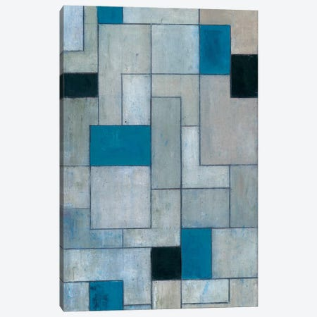 Grey Matters Black and Blue Canvas Print #CIM6} by Stephen Cimini Canvas Artwork