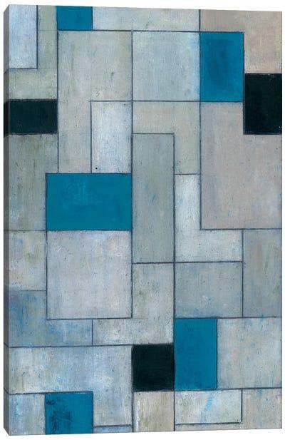 Grey Matters Black and Blue Canvas Art Print