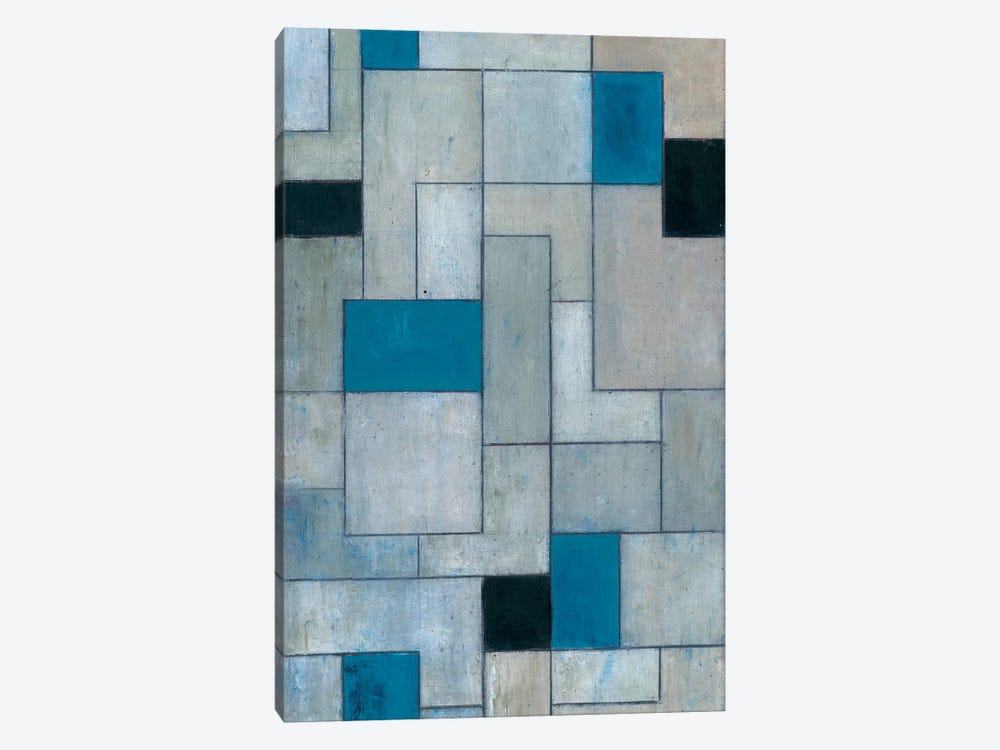 Grey Matters Black and Blue by Stephen Cimini 1-piece Canvas Artwork