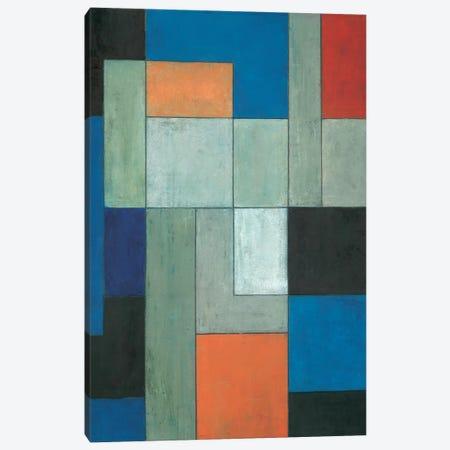 Grey Matters Blue Canvas Print #CIM7} by Stephen Cimini Canvas Wall Art