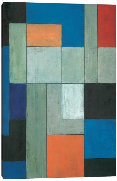 Grey Matters Blue Canvas Art Print