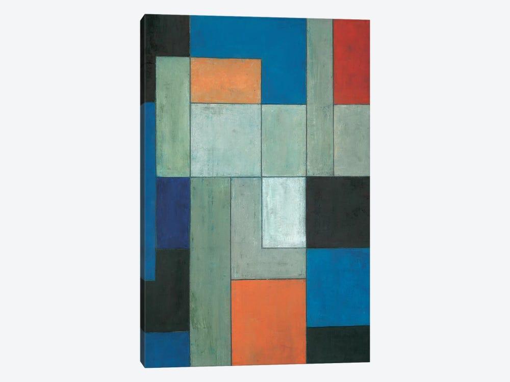 Grey Matters Blue by Stephen Cimini 1-piece Canvas Print