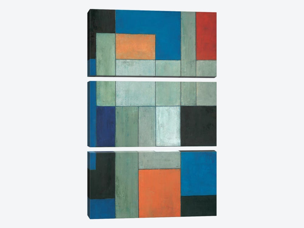 Grey Matters Blue by Stephen Cimini 3-piece Art Print