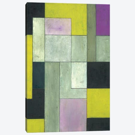 Grey Matters Chartreuse Canvas Print #CIM8} by Stephen Cimini Art Print