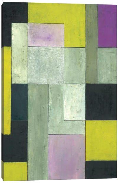 Grey Matters Chartreuse Canvas Art Print