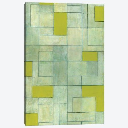 Grey Matters Green Canvas Print #CIM9} by Stephen Cimini Canvas Art Print