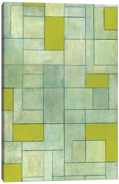 Grey Matters Green Canvas Art Print