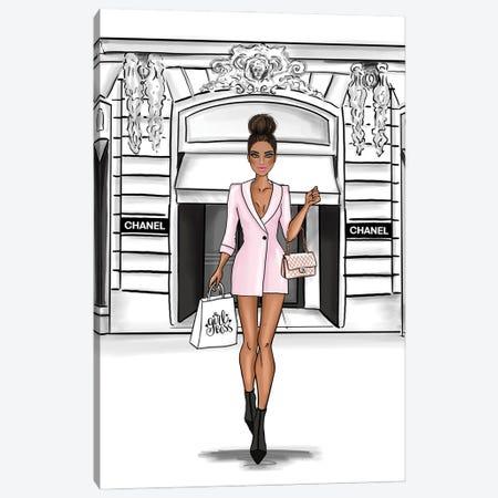 Fancy Girl Shopping Canvas Print #CIO33} by Criss Rosu Canvas Art Print