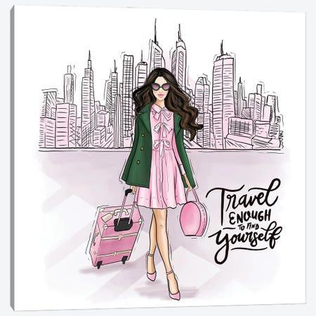 Travel Girl In New York Canvas Print #CIO3} by Criss Rosu Art Print