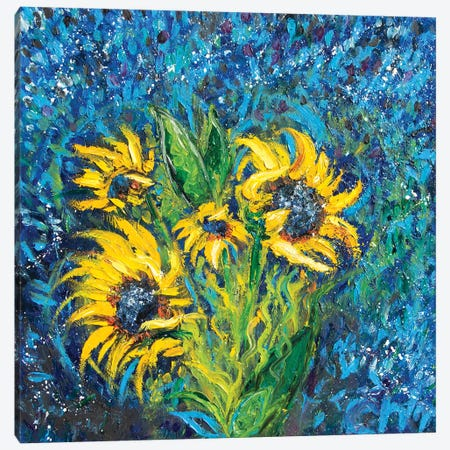 Cosmic Sunflowers I Canvas Print #CIR129} by Chiara Magni Canvas Print