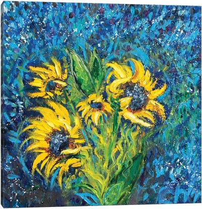 Cosmic Sunflowers I Canvas Art Print