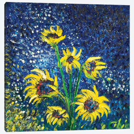 Cosmic Sunflowers II 3-Piece Canvas #CIR130} by Chiara Magni Canvas Wall Art
