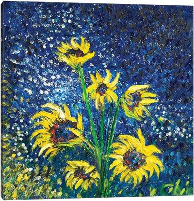 Cosmic Sunflowers II Canvas Art Print