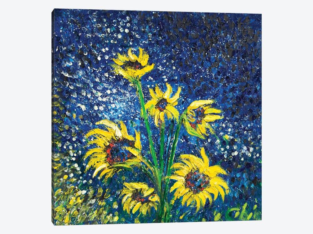 Cosmic Sunflowers II by Chiara Magni 1-piece Canvas Art