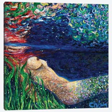 Becoming A Mermaid Canvas Print #CIR133} by Chiara Magni Canvas Wall Art