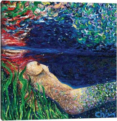 Becoming A Mermaid Canvas Art Print