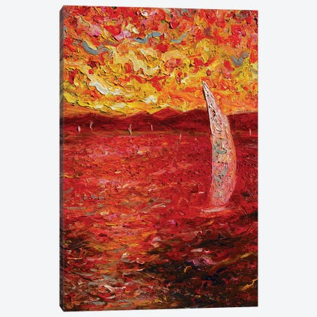Garda Lake In Pink Canvas Print #CIR138} by Chiara Magni Canvas Wall Art