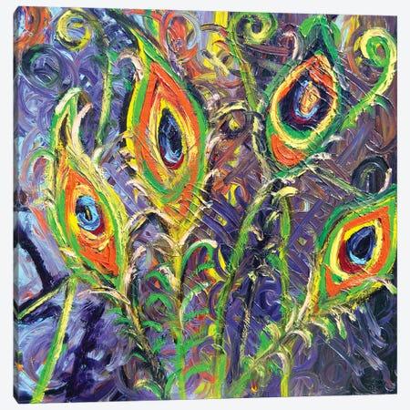 Peacock Licious Canvas Print #CIR169} by Chiara Magni Canvas Art Print