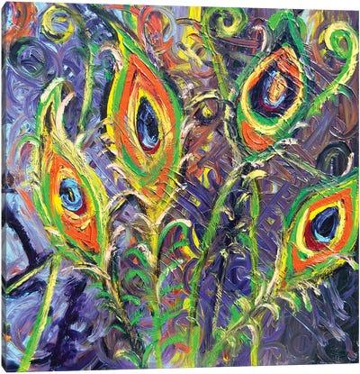 Peacock Licious Canvas Art Print