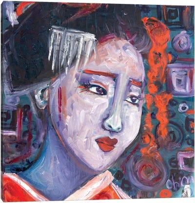 Concentric Geisha II Canvas Art Print