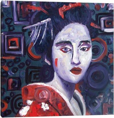 Concentric Geisha I Canvas Art Print