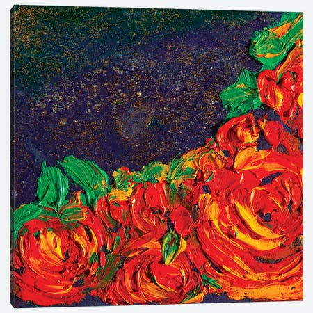 Flowers At Night Canvas Print #CIR27} by Chiara Magni Canvas Artwork