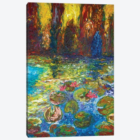 Ninfee At The Sunset Canvas Print #CIR64} by Chiara Magni Canvas Wall Art