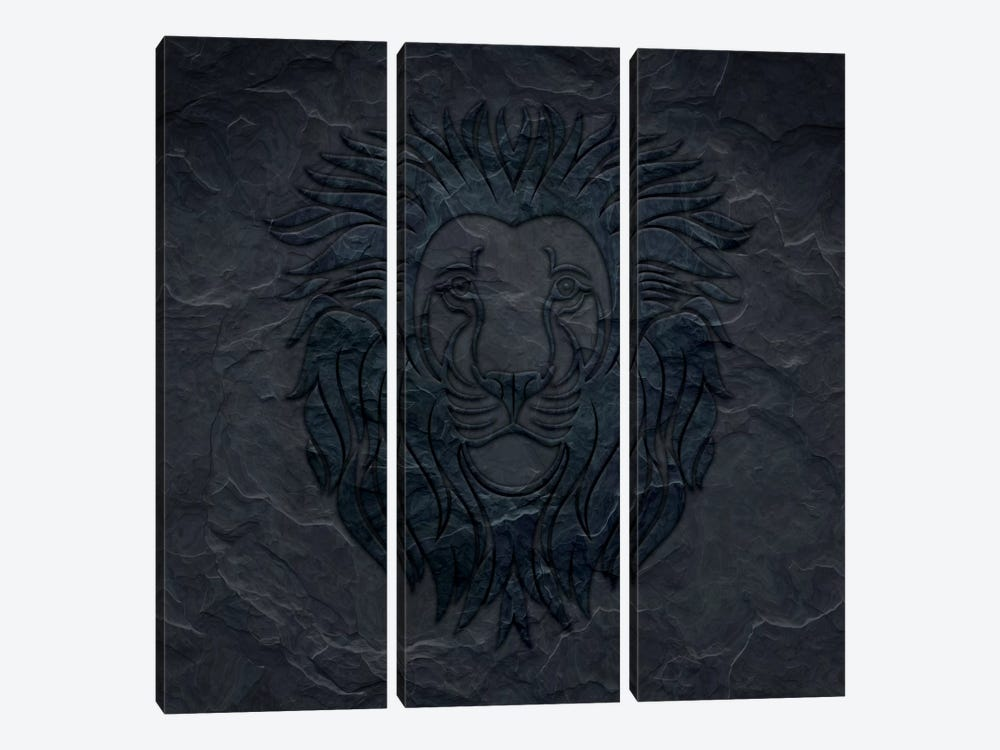 Divide And Conquer by 5by5collective 3-piece Canvas Print