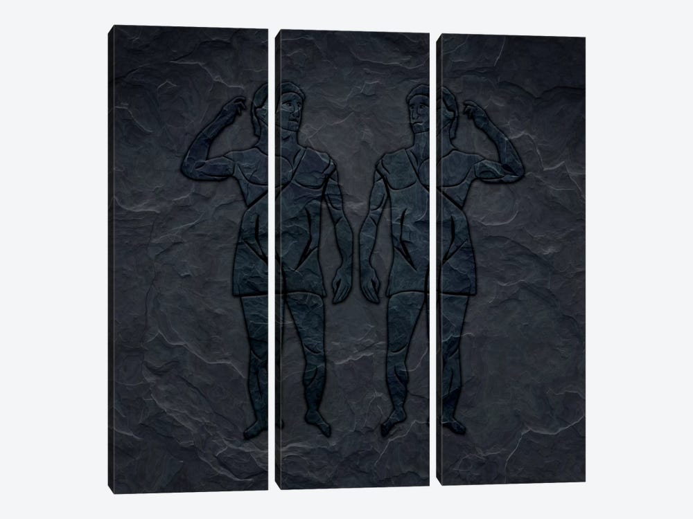 Like-Minded by 5by5collective 3-piece Canvas Print