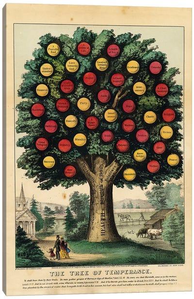 The Tree of Temperance, 1872 Canvas Art Print
