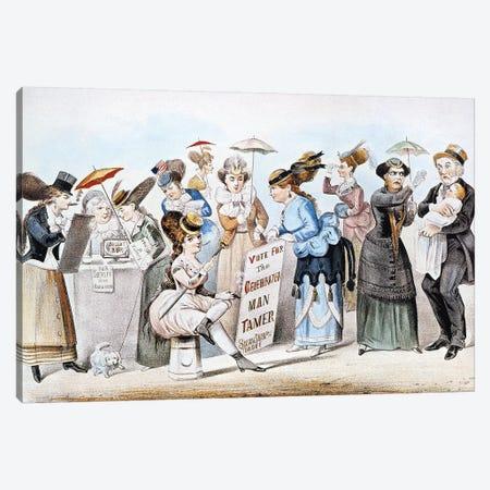 Cartoon: Women's Rights Canvas Print #CIV5} by Currier & Ives Canvas Artwork